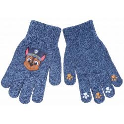 Granatowe,chłopięce rękawiczki z motywem CHASE Psi Patrol