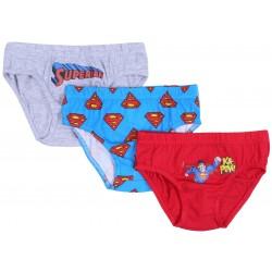 3x Niebiesko-czerwone slipy chłopięce SUPERMAN