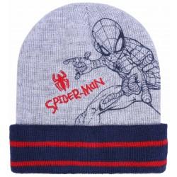 Szaro-granatowa czapka chłopięca Spider-man MARVEL