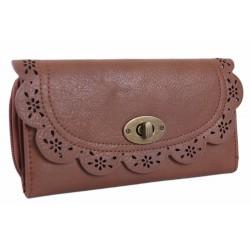 Brązowy ażurowy portfel PRIMARK ATMOSPHERE