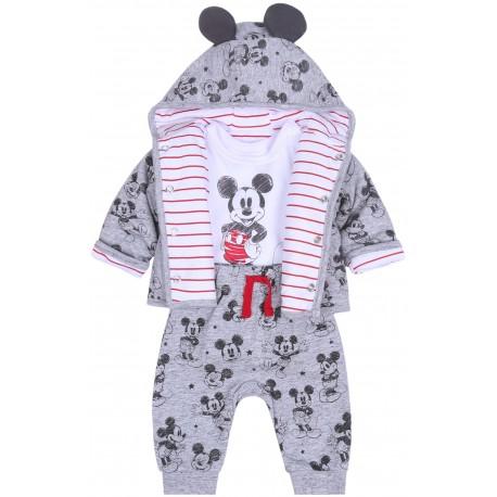 Szary komplet niemowlęcy Myszka Minnie DISNEY