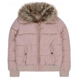 Ciepła, łososiowa kurtka z ciepłym kołnierzem