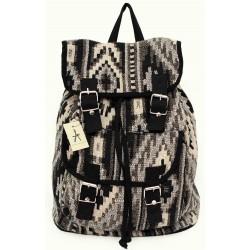 Czarno-biały plecak A4 PRIMARK ATMOSPHERE