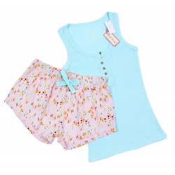 Różowo-zielona piżama w łączkę PRIMARK
