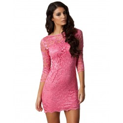 ASOS koronkowa, różowa sukienka