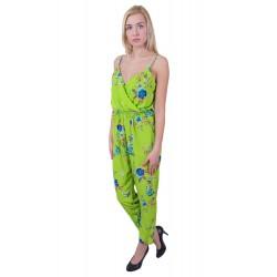 ASOS Zielony kombinezon kwiaty spodnium overall