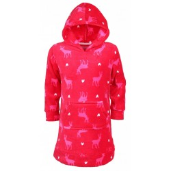 Red Housecoat/Dressing Gown with Reindeers Pattern PRIMARK