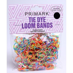 Tie Dye /Colourful Loom Bands - braclet making set 300pcs