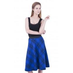 ASOS Spódnica midi w kobaltowo-czarną kratkę