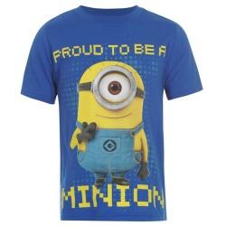 Niebieski t-shirt MINIONKI