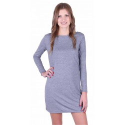 Grey Nightshirt With White and Blue T-Strap Back For Ladies PIGEON