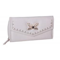 Elegancki kremowy portfel - złoty motyl PRIMARK ATMOSPHERE