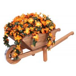 Taczka kwietnik ozdobny, drewniana, ogrodowa do kwiatów