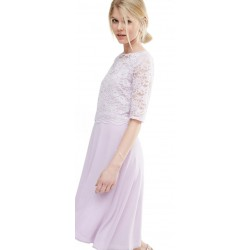 ASOS Fioletowa sukienka midi z koronką