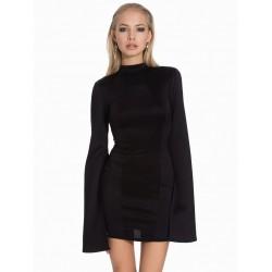 ASOS Czarna sukienka mini rozcięte rękawy