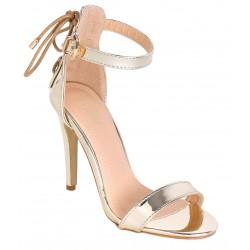 Złote sandały na szpilce VICES