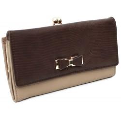 Brązowo-beżowy portfel XL PRIMARK ATMOSPHERE
