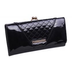 Czarny, błyszczący portfel PRIMARK ATMOSPHERE
