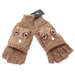 Beżowo-brązowe rękawiczki PRIMARK ATMOSPHERE