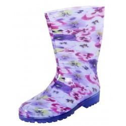 Fioletowe kalosze w kwiaty RAINNY PRINT DEMAR