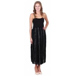 ASOS Czarna, połyskująca spódnica maxi