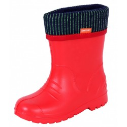 Demar Boys Girls Wellington Boots Rain Snow Wellies EVA Warm Liners Red