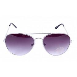 Srebrne okulary, pilotki + etui OPIA PRIMARK