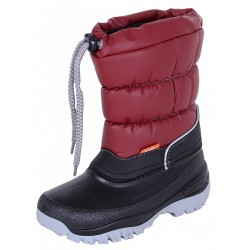 Childrens' Burgundy And Black Insulated Winter Boots LUCKY DEMAR