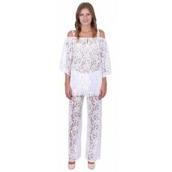 ASOS Białe, koronkowe spodnie