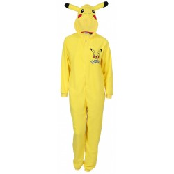 Yellow, All In One Piece Pyjama, Hooded Onesie For Men PIKACHU POKEMON