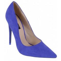 Eleganckie, niebieskie szpilki czółenka VICES