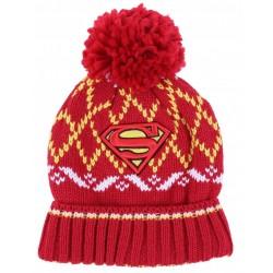Red hat with a pom-pom SUPERMAN