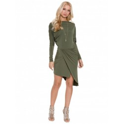 ASOS Khaki, asymetryczna sukienka mini