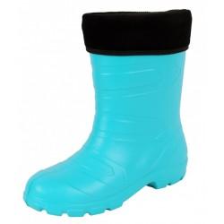 Ladies, Girls, Turquoise/Black, EVA, Wellies, Wellington, Rain Boots ASPEN LEMIGO