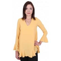 ASOS Żółta bluzka z falbanką