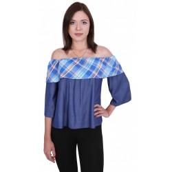 ASOS Niebieska bluzka hiszpanka