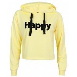 Żółta bluza Happy z kapturem PRIMARK
