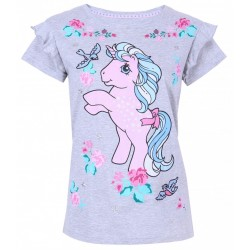 Grey Top, T-shirt For Ladies Unicorn Design MY LITTLE PONY