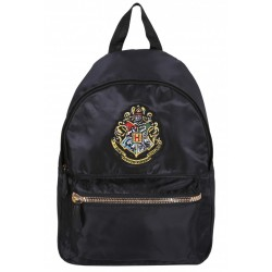 Black Backpack, Knapsack, Rucksack Hogwarts Crest Design HARRY POTTER