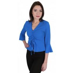 Niebieska bluzka - rękawy dzwonki JOHN ZACK