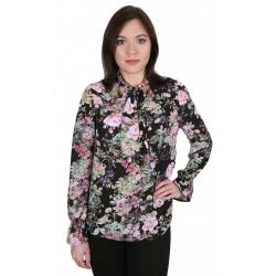 Czarna bluzka w kwiaty JOHN ZACK