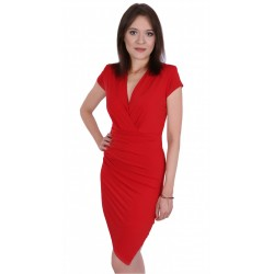 Czerwona asymetryczna sukienka JOHN ZACK