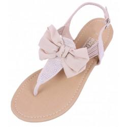 Beżowe sandały, japonki z kokardą PRIMARK