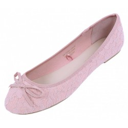 6530501_06 różowe koronkowe baleriny