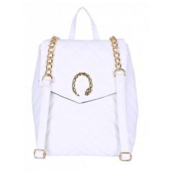 Biały pikowany plecak z łańcuszkiem PRIMARK