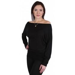 Marietta 2 Czarna bluzka nietoperz