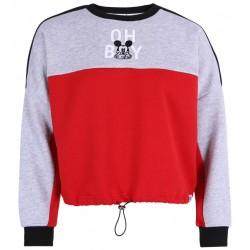 Czerwono-szara krótka bluza Myszka Mickey DISNEY