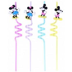 4x Kolorowe słomki Myszka Minnie DISNEY