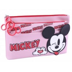 2x Różowa kosmetyczka Myszka Mickey DISNEY