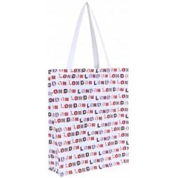 Biała torba zakupowa LONDON